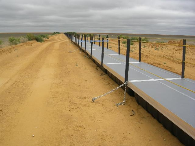 Installed_Floating_Walkway on tailings dam