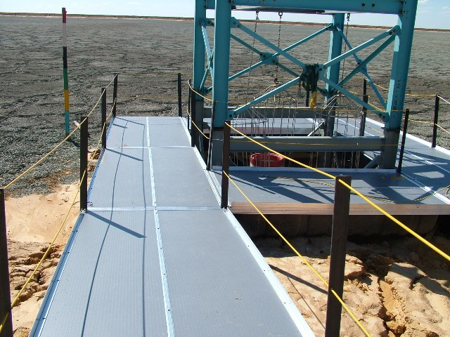 penstock platform on tailings dam